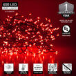 Red LED Fairy Lights, Silver Wire
