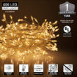 Warm White LED Fairy Lights, Silver Wire