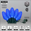 Commercial C7 Blue LED Christmas Lights on Green Wire