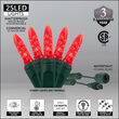 Commercial M5 Mini Ice Red LED Christmas Lights on Green Wire