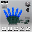 Commercial M5 Mini Ice Blue LED Christmas Lights on Green Wire
