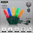 Commercial M5 Mini Ice Multi Color LED Christmas Lights on Green Wire
