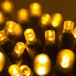 Commercial 5mm Wide Angle Gold LED Christmas Lights on Green Wire