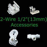 2 wire 1/2 inch rope light accessories