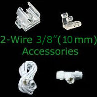 2 wire 3/8 inch rope light accessories