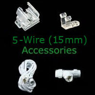 5 wire 15mm rope light accessories