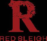 red sleigh trees logo
