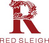 red sleigh trees logo