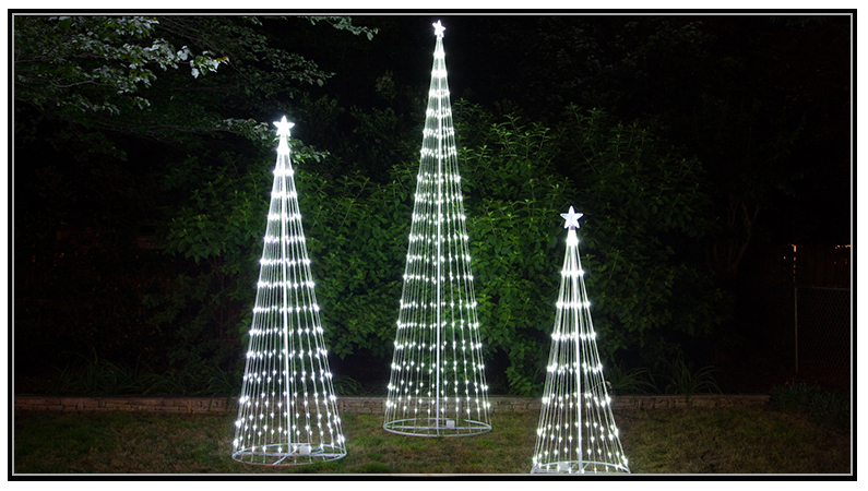 commercial christmas tree toppers led light show trees