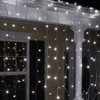 LED Warm White Curtain Lights