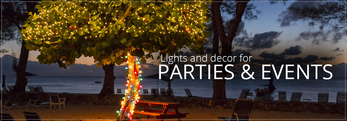 summer party lights