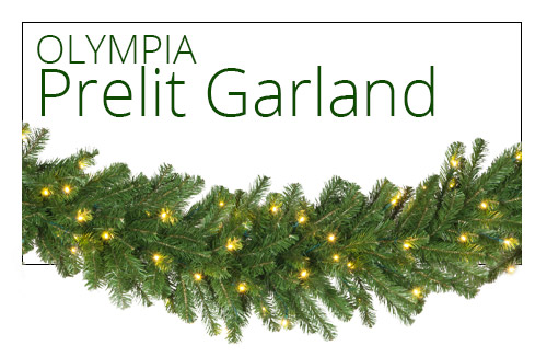 Olympia Pine Prelit Garland