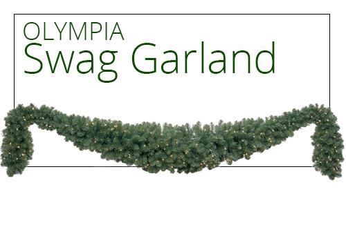 Olympia Pine Prelit Swag Garland