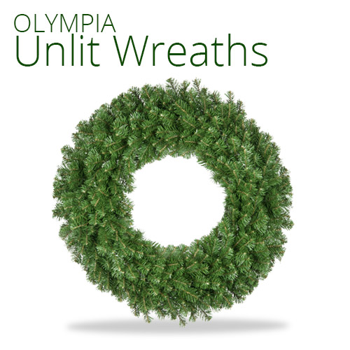 Olympia Pine Unlit Wreaths
