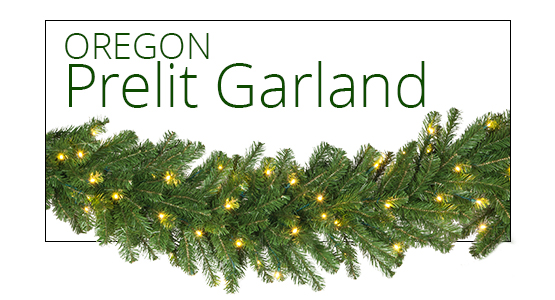 Oregon Fir Prelit Garland