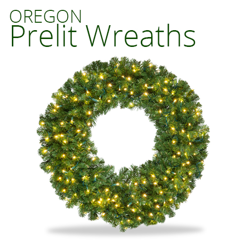 Oregon Fir Prelit Wreath