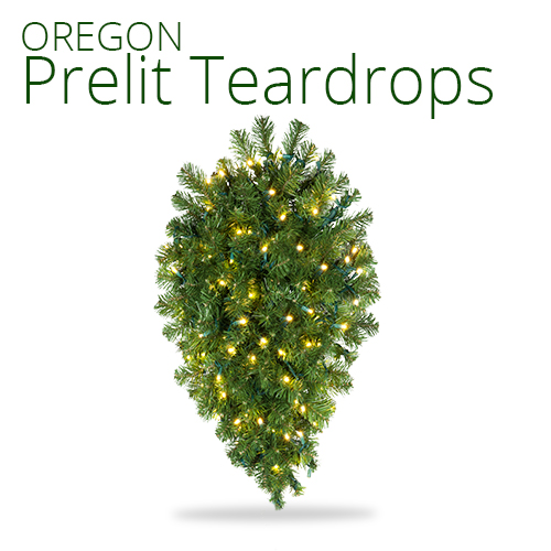 Oregon Fir Prelit Teardrop