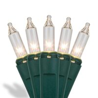Incandescent Mini Lights Standard Green Wire