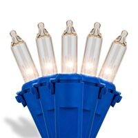 Incandescent Mini Lights Premium Blue Wire