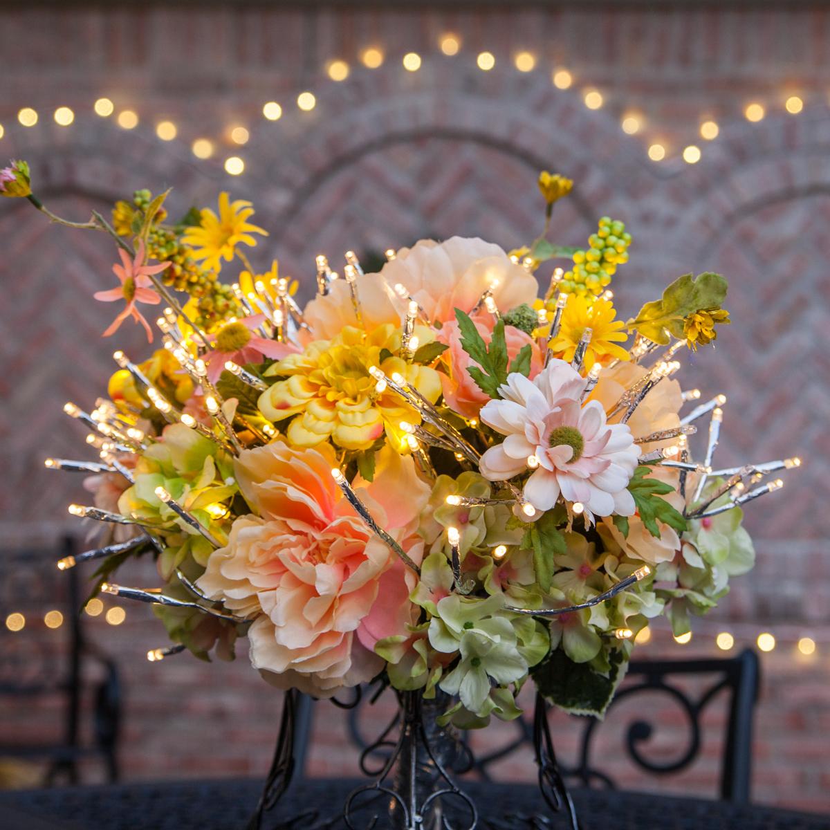 Starburst Lighted Branch Faux Floral Arrangement