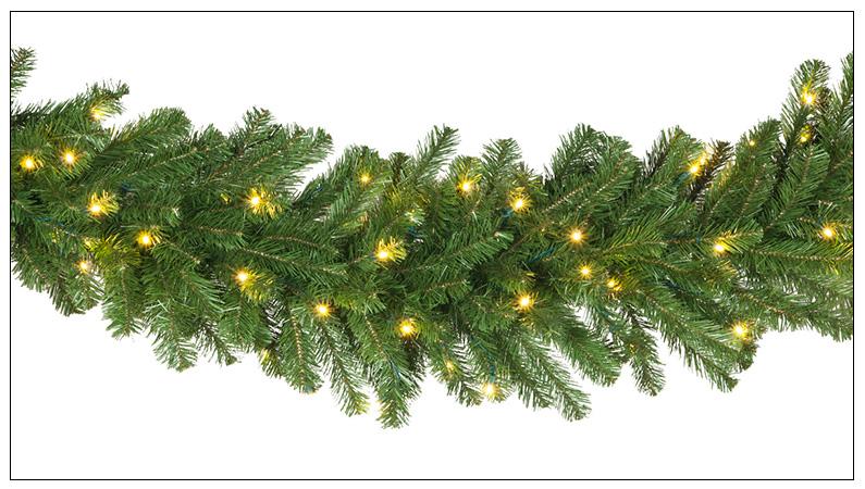 Prelit Christmas Garland