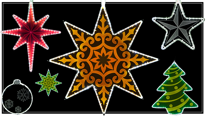 laser etched motifs - Wholesale Christmas Decorations