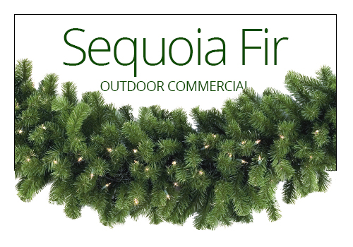 Sequoia Fir Prelit Christmas Garland