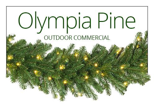 Olympia Pine Prelit Christmas Garland
