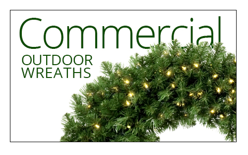 Commercial Outdoor Wreaths