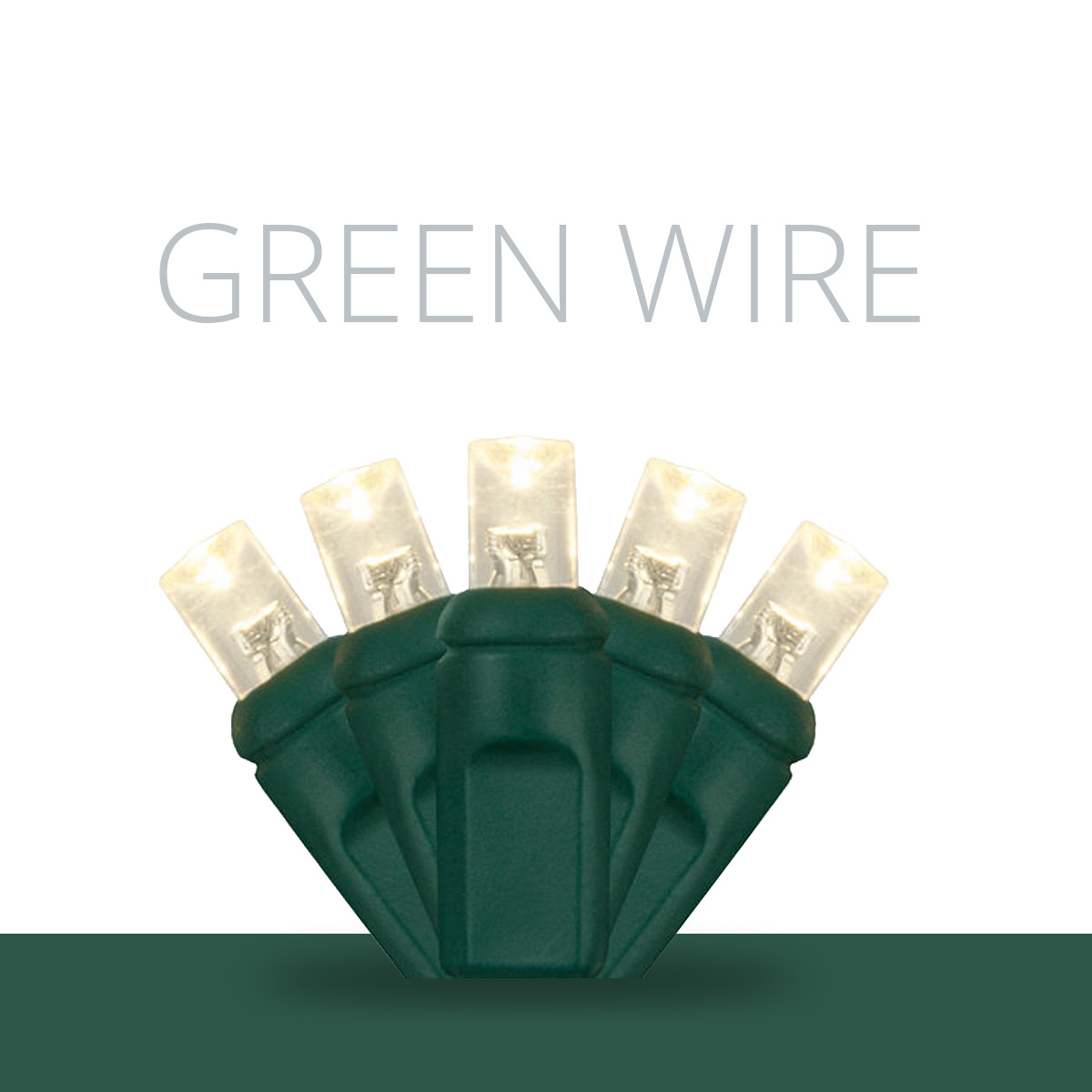 Green Wire LED Mini Lights