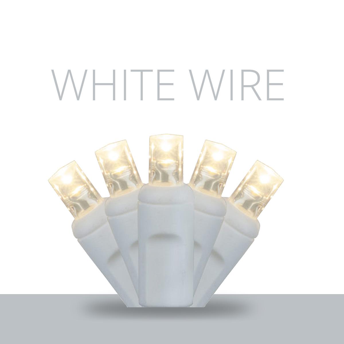 White Wire LED Mini Lights