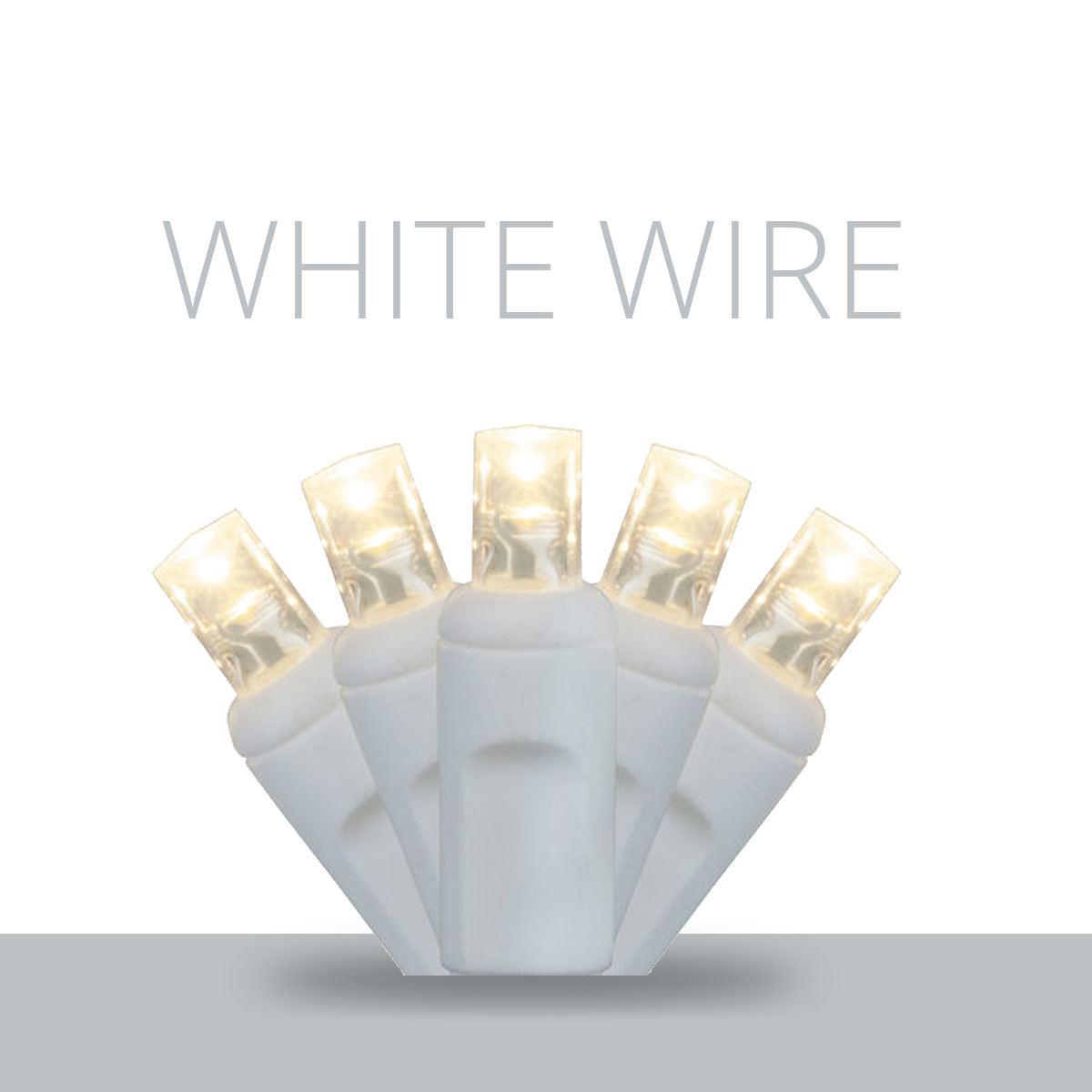 White Wire LED Mini Lights