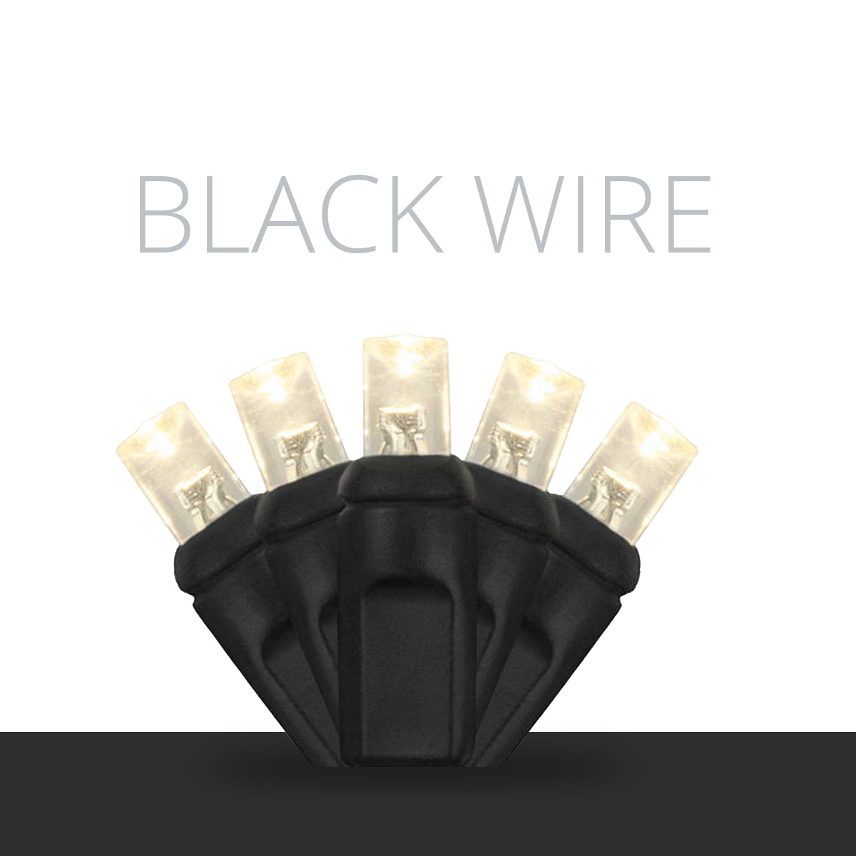 Black Wire LED Mini Lights