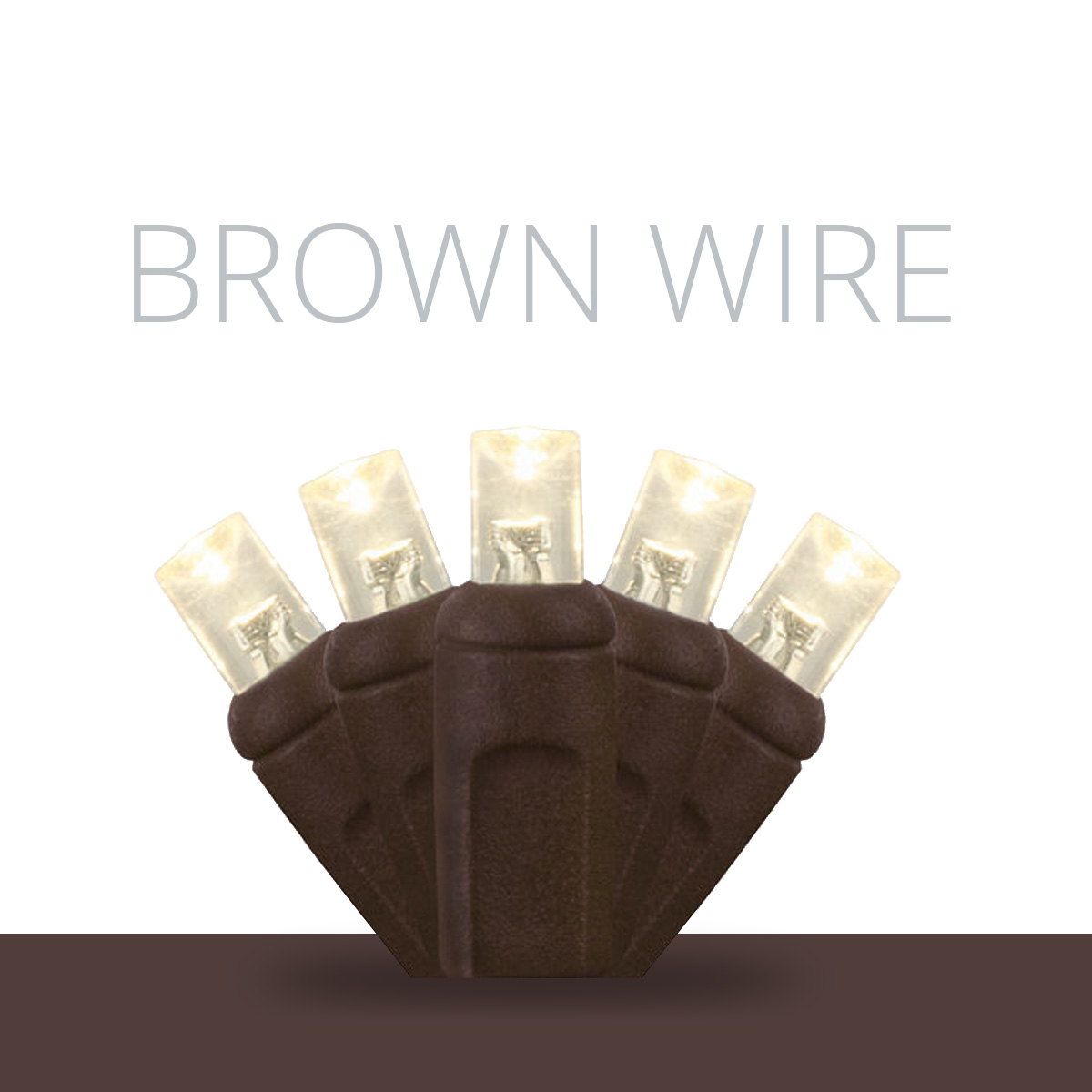 Brown Wire LED Mini Lights