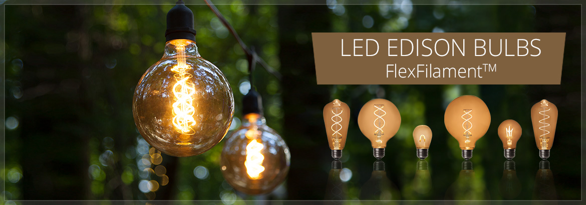 Quality wholesale decorative lighting and decor · FlexFilament Vintage LED Light Bulbs