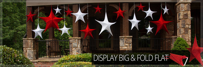 Fold-Flat Christmas Star Decorations