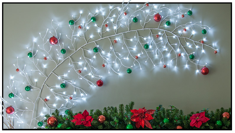 Lighted Branch Christmas Decorations