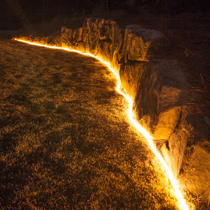 Outline Landscapes with White Rope Light
